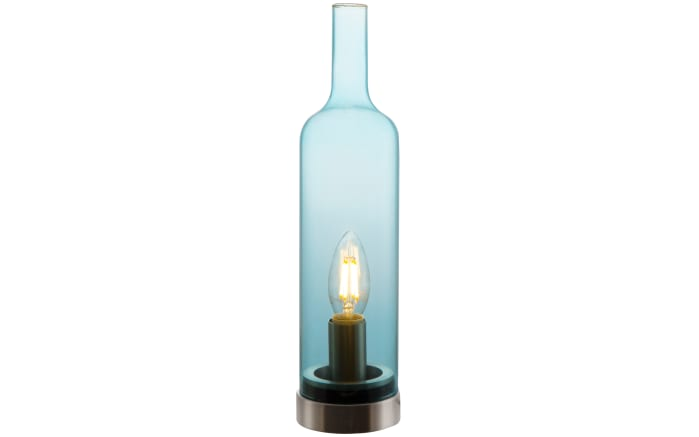 Tischleuchte Bottle in blau
