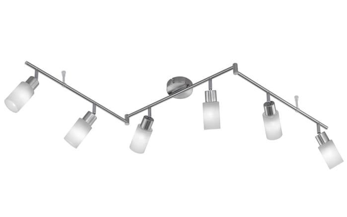 LED-Deckenleuchte Levisto II in nickel matt, 150 cm