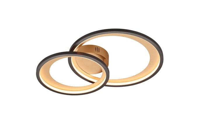 LED-Deckenleuchte Granada in schwarz/gold