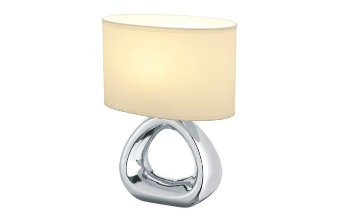 Tischleuchte Gizeh in silberfarbig/weiß