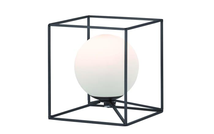 Tischleuchte Gabbia in schwarz, 22 cm