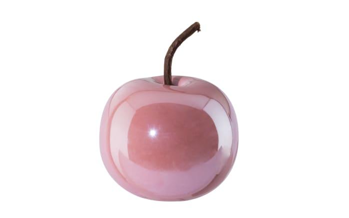 Deko Apfel Perl Effect in pink, 8 x 6,5 cm