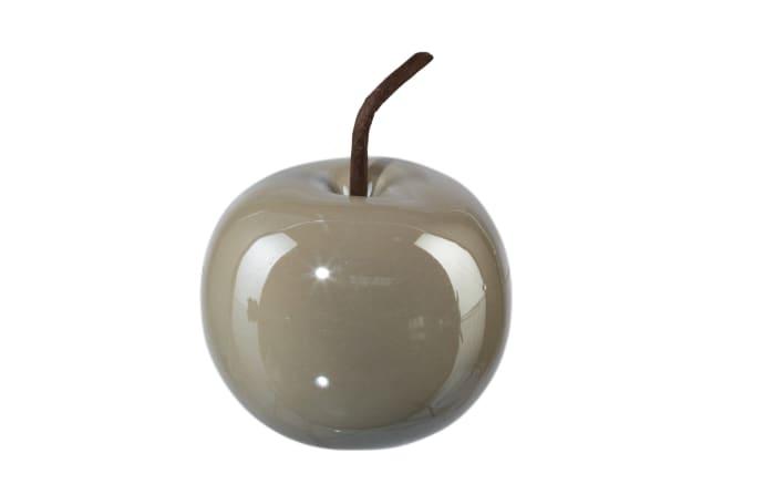 Deko Apfel Perl Effect in grau, 8 x 6,5 cm