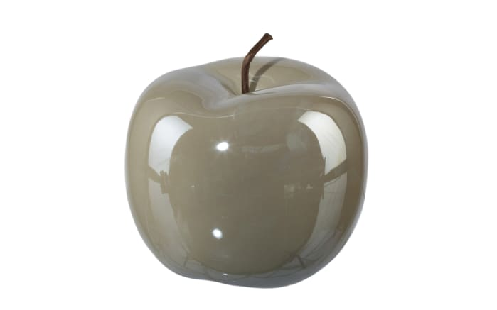 Deko Apfel Perl Effect in grau, 12 x 9,5 cm