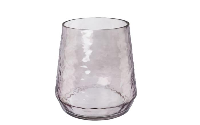 Glas Vase Serra in grau, 18 cm