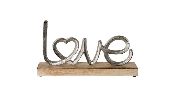 Aluminium Love in silber, 17 cm