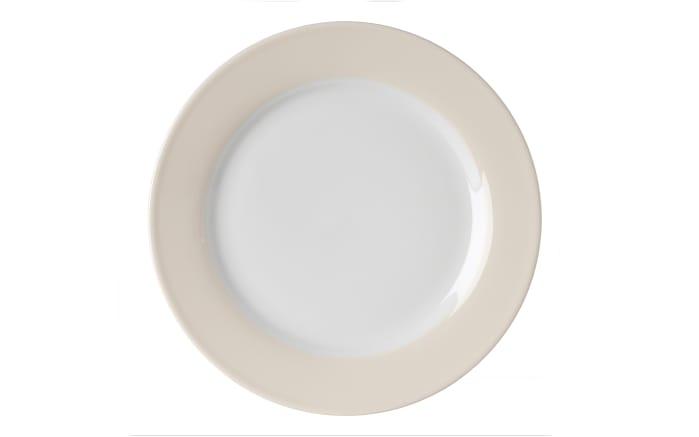 Speiseteller Doppio in creme, 20 cm