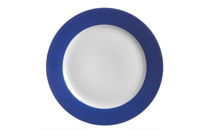 Speiseteller Doppio in indigo, 27 cm