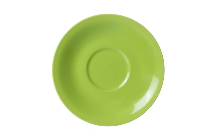 Jumbo Untertasse Doppio in grün, 17 cm