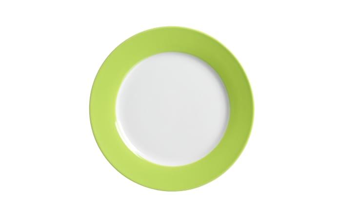 Dessertteller Doppio in grün, 20,5 cm