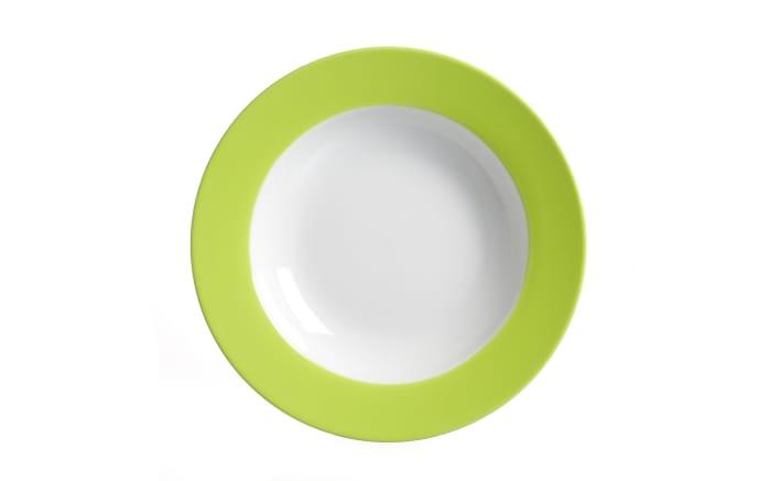 Suppenteller Doppio in grün, 22 cm