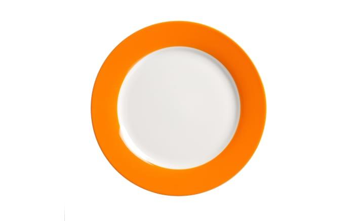 Dessertteller Doppio in orange, 20,5 cm