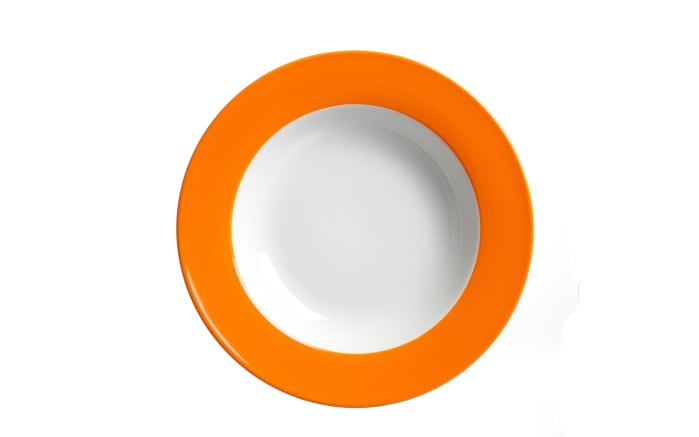 Suppenteller Doppio in orange, 20,5 cm