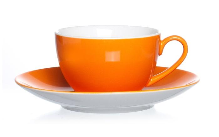 Untertasse Doppio in orange, 16 cm