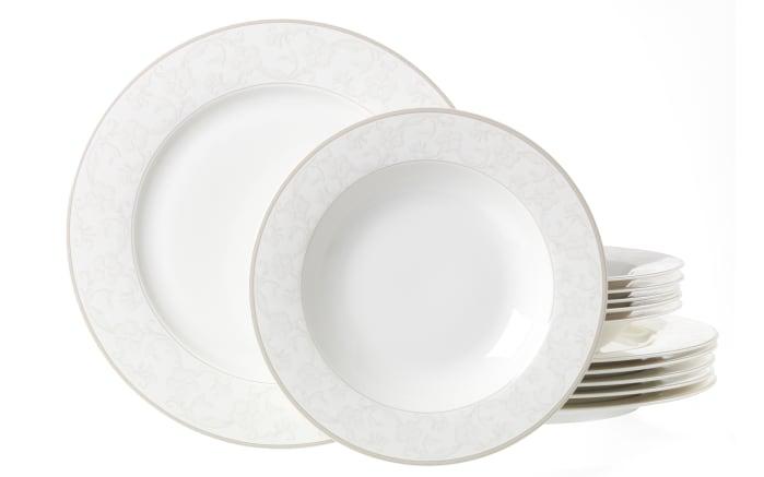 Tafelservice Isabella in weiß, 12-teilig