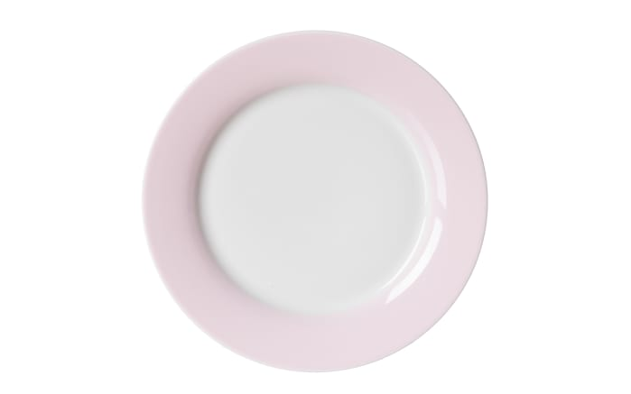 Dessertteller Doppio in rose, 20,5 cm