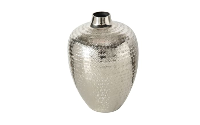 Vase Detroit in silber, 23 cm