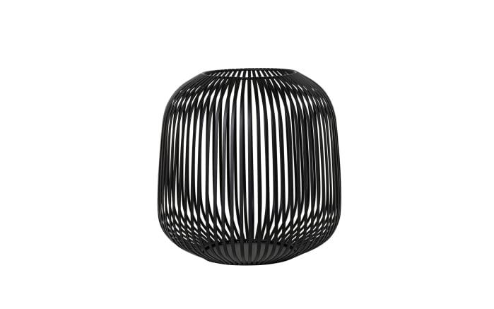 Laterne Lito in schwarz, 27,4 x 27 x 27,4 cm
