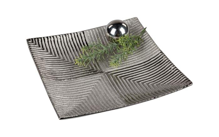 Teller in antikfarbig, 28 x 28 cm