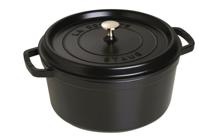 Schmortopf Cocotte in schwarz rund, 28 cm