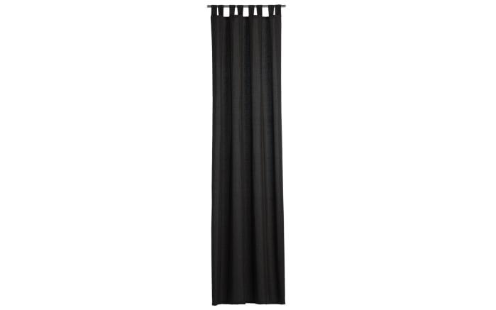 Schlaufenschal Milano mit Schienenband in schwarz, 135 x 255 cm