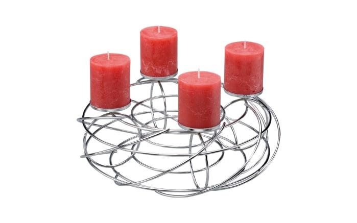 Tischleuchter LifeStyle für 4 Kerzen in chromfarbig, 35 cm