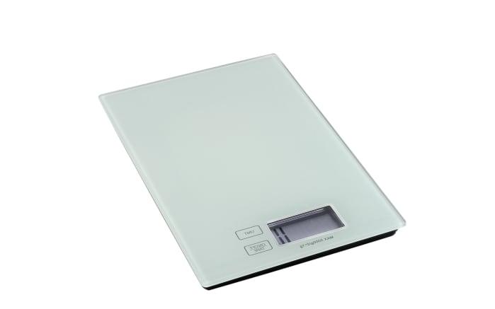 Digitale Küchenwaage in weiß, 16,5 x 23 cm