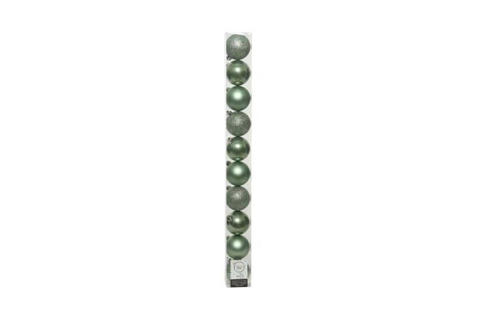 Deko Kugeln in salbeigrün, 10 cm