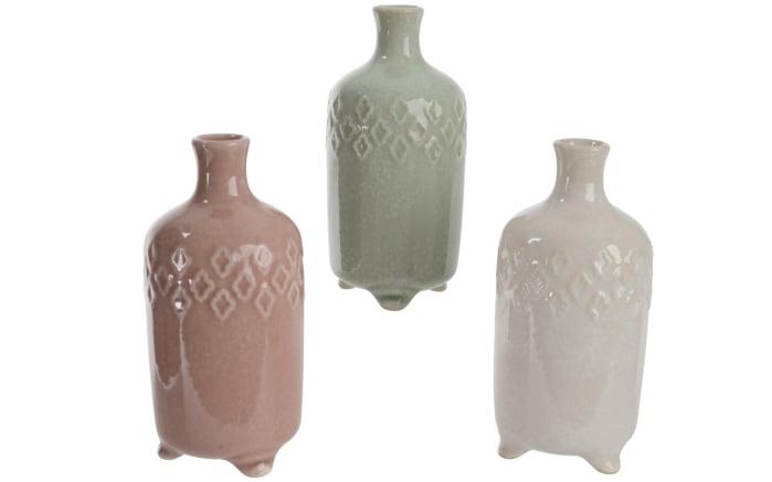 Steinvase in rose, grün oder weiß, 6,8 x 14 cm