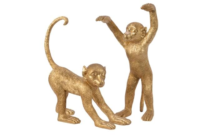 Affe in gold-antik, 44 cm