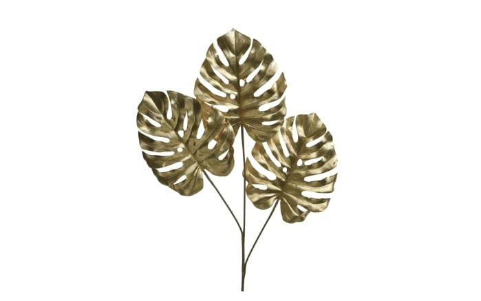 Deko-Monsterablatt 3x in goldfarbig, 74 cm