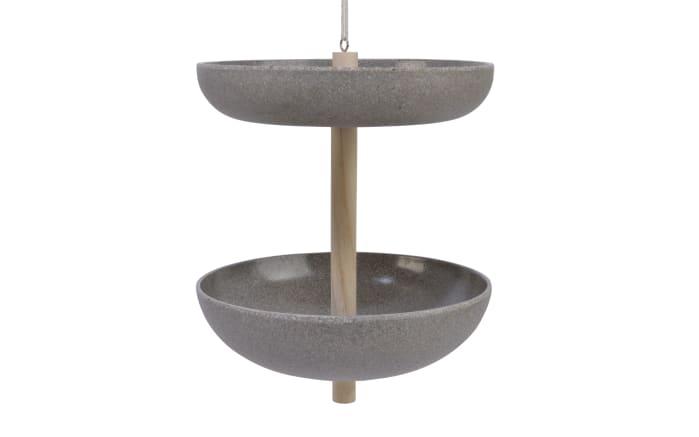 Vogeltränke in grau, 20 x 23 cm