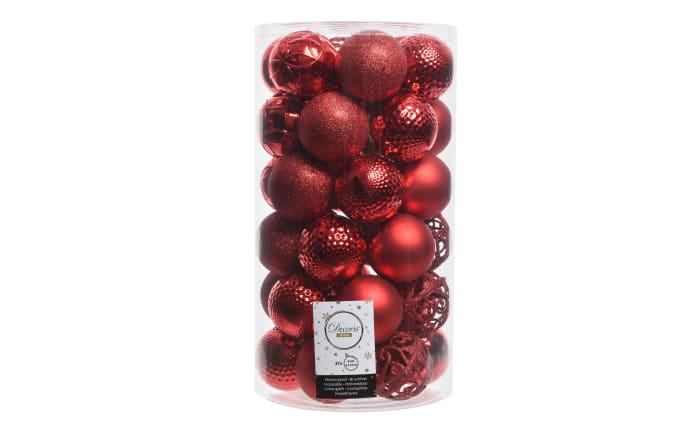 Kugelmix in weihnachtsrot, 37 Stück