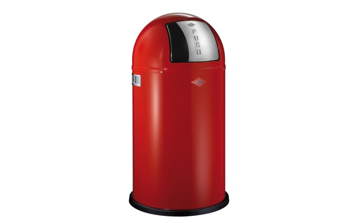 Abfalleimer Pushboy in rot, 50 l