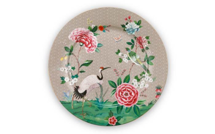 Plate Blushing Birds in khaki, 32 cm