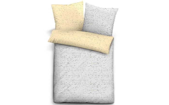 Wendebettwäsche Trendline Satin in beige/grau, 135 x 200 cm