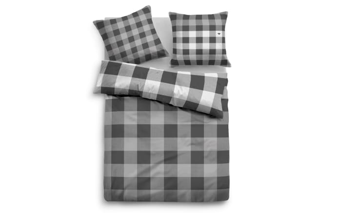 Bettwäsche Tom Tailor Flanell in light grey, 135 x 200 cm
