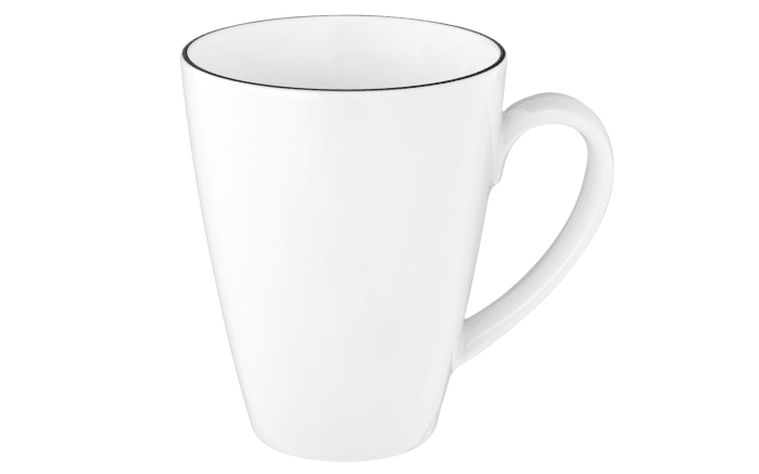 Kaffeebecher Lido Black Line in weiß, 0,35 l