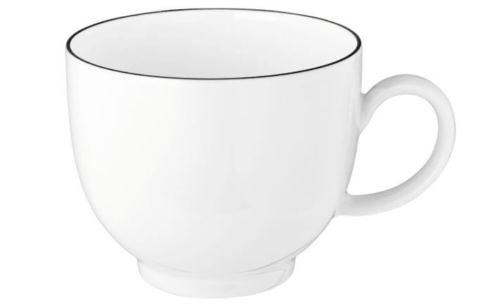 Kaffeetasse Lido Black Line in weiß, 0,22 l