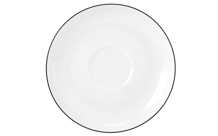 Kaffeeuntertasse Lido Black Line in weiß, 14,5 cm