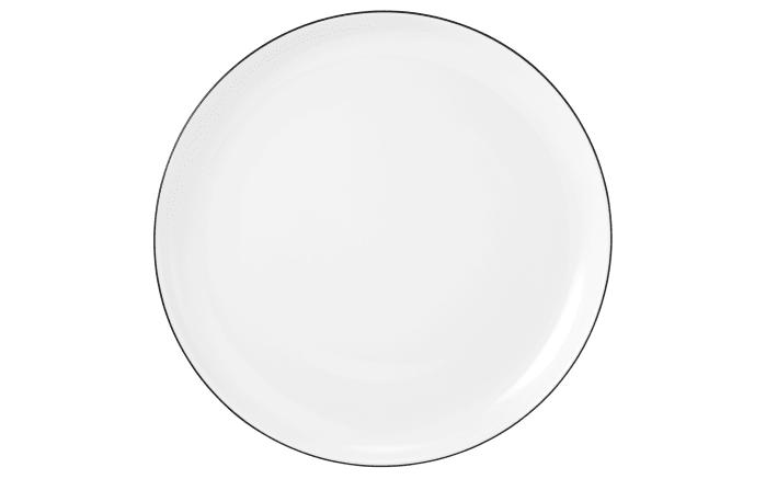 Frühstücksteller Lido Black Line in weiß, 20 cm
