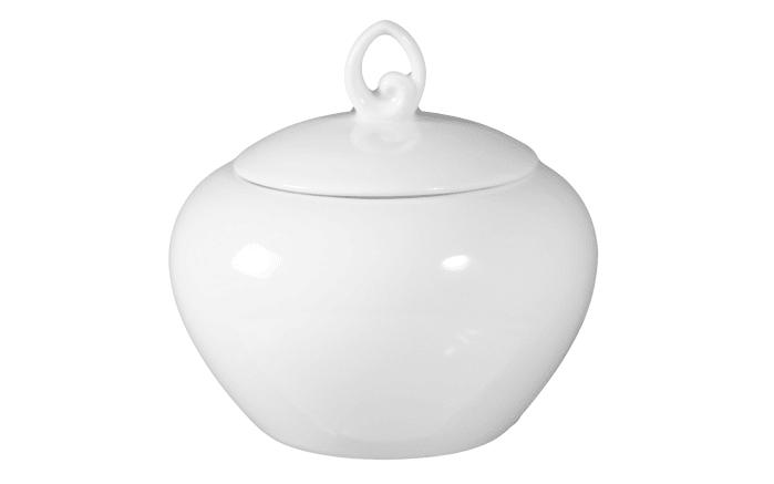 Zuckerdose Rondo Liane in weiß, 0,25 l