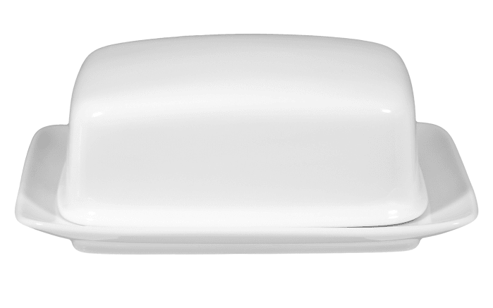 Butterdose Rondo Liane in weiß, 1/2 Pf