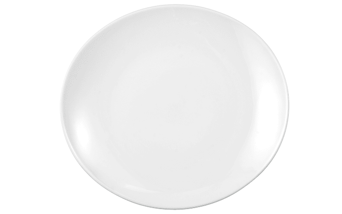 Teller flach Modern Life in weiß/oval, 29 cm
