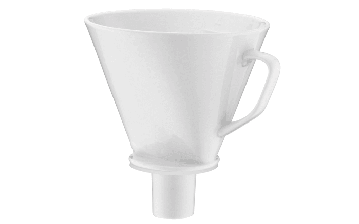Kaffeefilter in weiß aus Porzellan