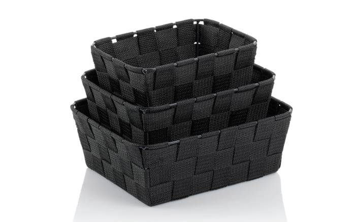 Korb-Set Alvaro in schwarz, 3-teilig