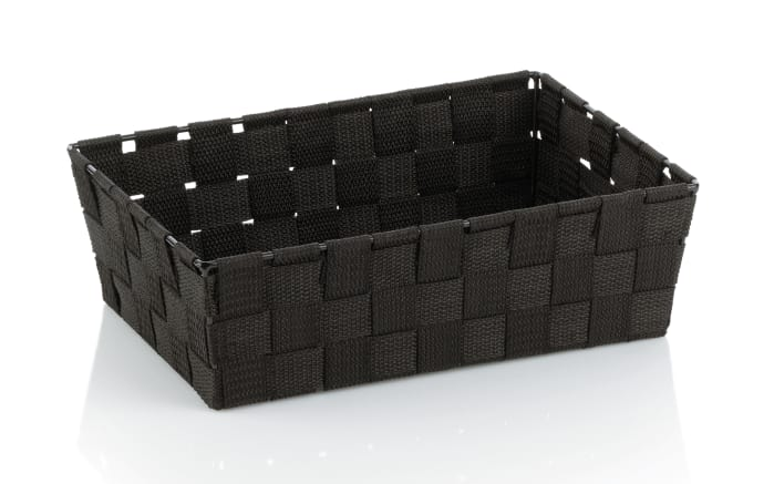 Aufbewahrungskorb Alvaro in schwarz, 29,5 x 20,5 cm