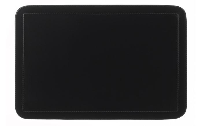 Tischset Uni in schwarz, 28.5 x 43.5 cm