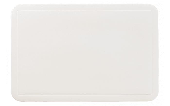 Tischset Uni in weiß, 28.5 x 43.5 cm