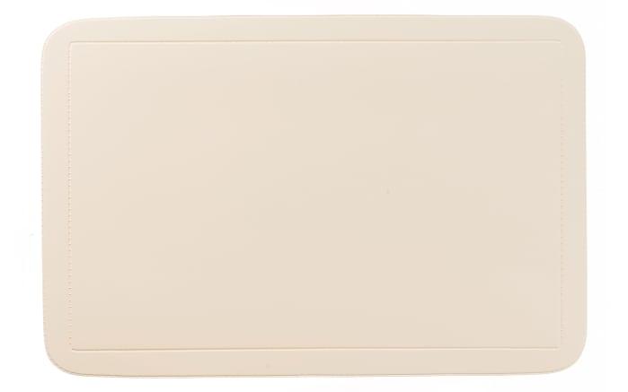 Tischset Uni in beige, 28.5 x 43.5 cm